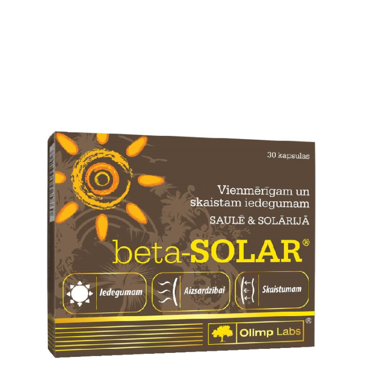 OLIMP LABS BETA-SOLAR kapsulas N30