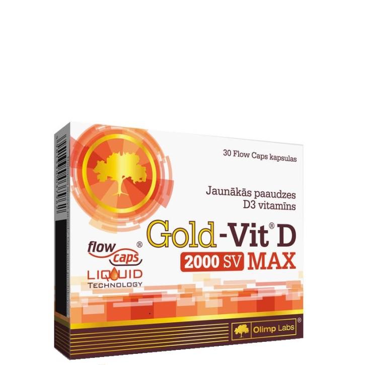 OLIMP LABS GOLD VIT. D MAX 2000SV kapsulas N30
