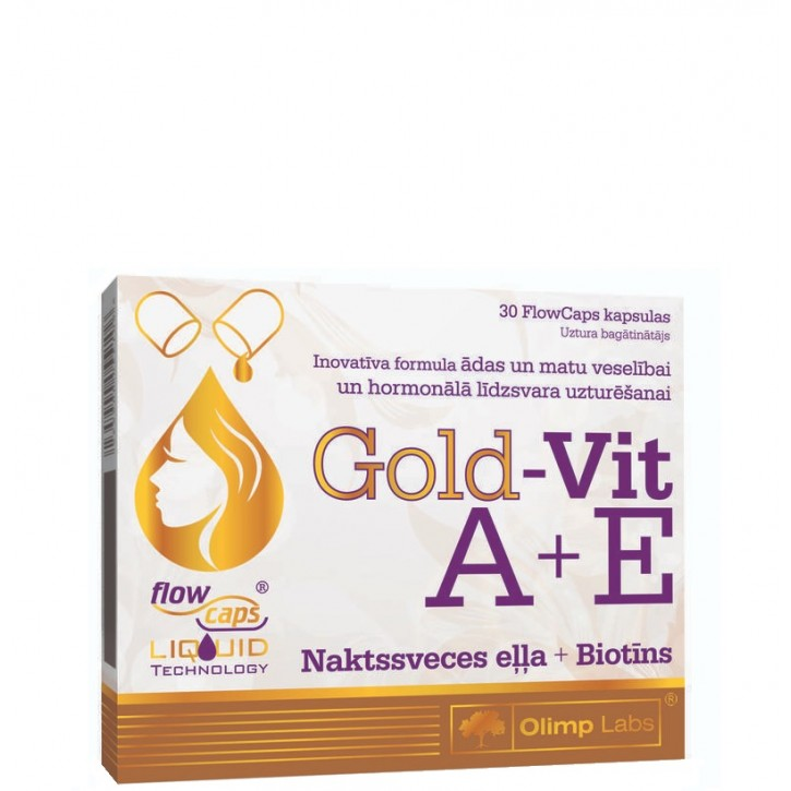 OLIMP LABS GOLD-VIT A+E (NAKTSSV.EĻĻA+BIOTĪNS) kapsulas N30
