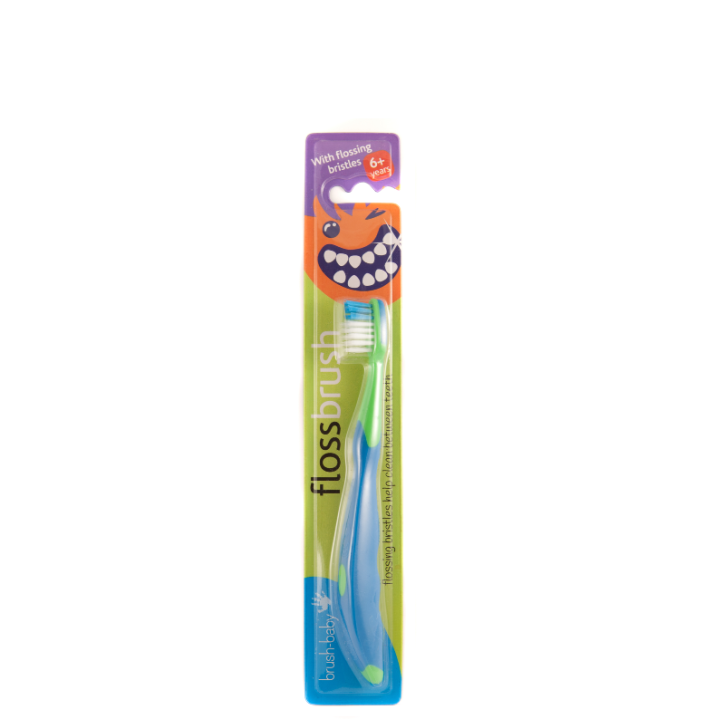 BRUSH-BABY FLOSSBRUSH ZOBU BIRSTE 6+G