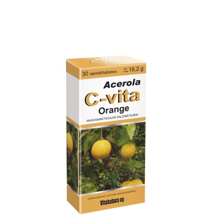ACEROLA C-VITA ORANGE 60mg tabletes N30
