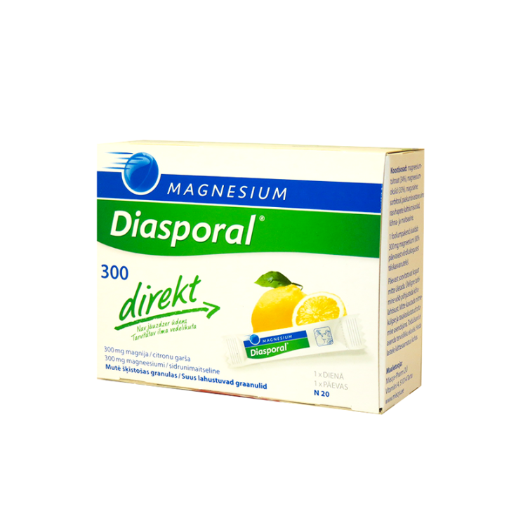 MAGNESIUM DIASPORAL DIRECT 300mg granulas N20