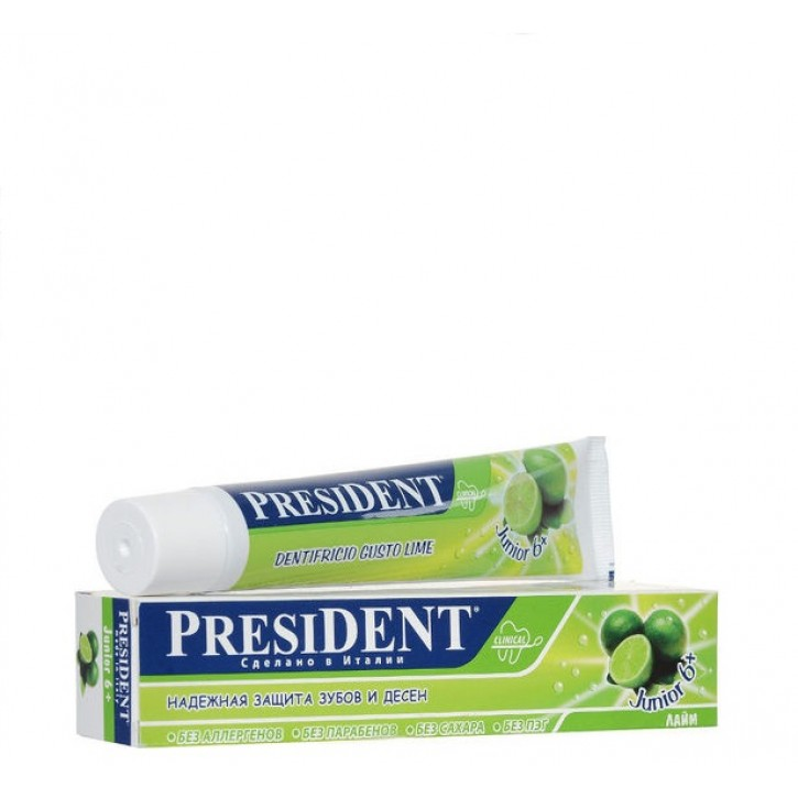 ZOBU PASTA PRESIDENT JUNIOR 6+ GADI 50ML