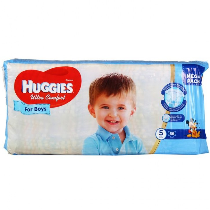 HUGGIES ULTRA COMFORT FOR BOYS AUTIŅBIKSĪTES12-22KG N56