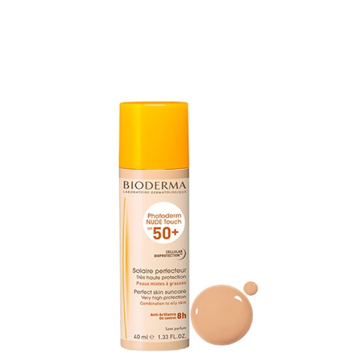 BIODERMA PHOTODERM NUDE TOUCH  SPF50+ 40ML GAIŠI TONĒTS