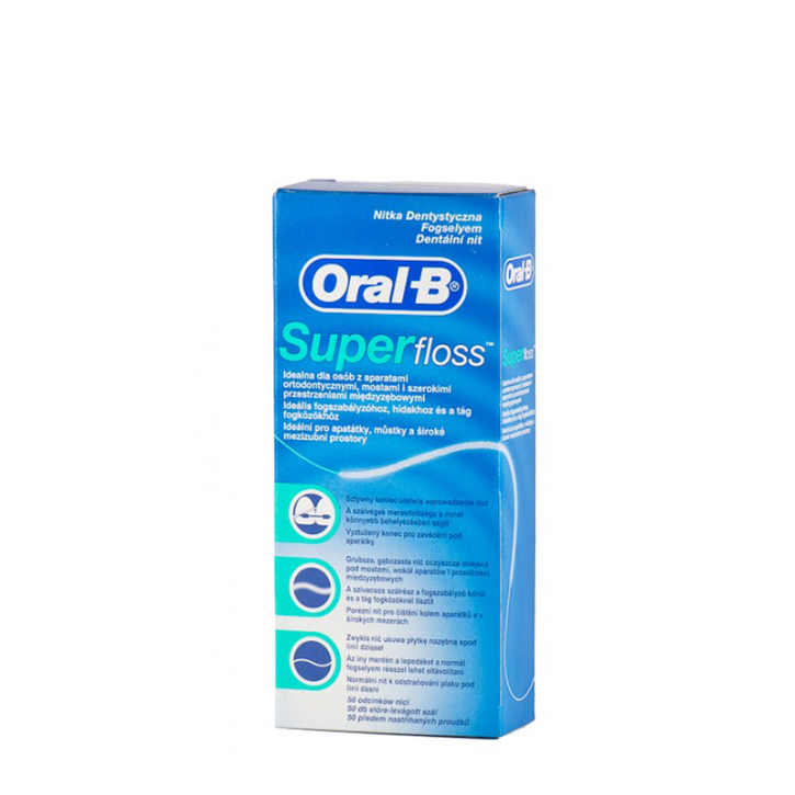 ORAL-B SUPER floss zobu diegs 50m