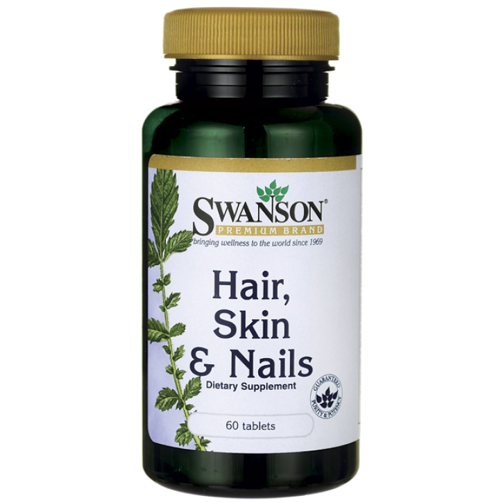 SWANSON MATIEM, NAGIEM UN ĀDAI / HAIR, SKIN AND NAILS tabletes N60