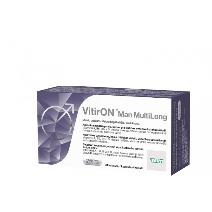 VITIRON MAN MULTILONG kapsulas N30