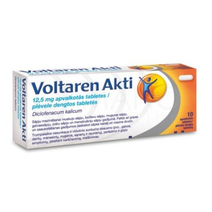 VOLTAREN AKTI FILM COAT 12.5mg tabletes N10