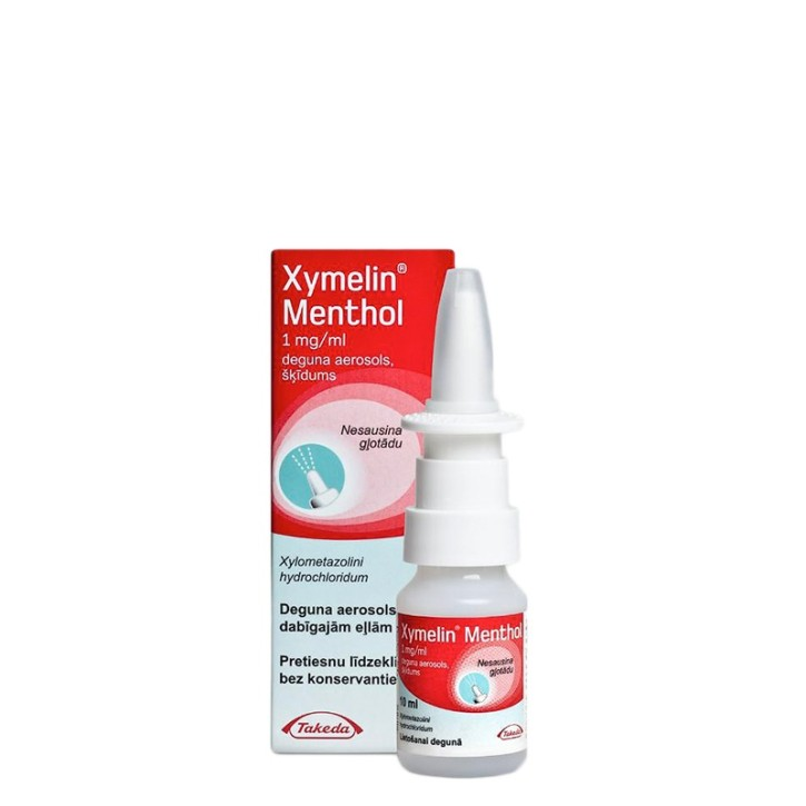 XYMELIN MENTHOL 1mg/ml deguna aerosols 10ml