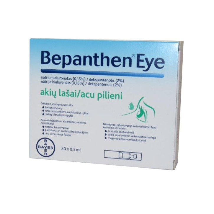 BEPANTHEN EYE ACU PILIENI 0.5ml N20 gb.