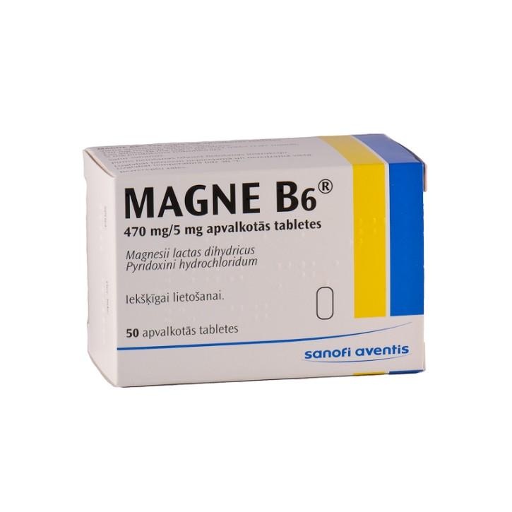 MAGNE-B6 apvaklotas tabletes N50
