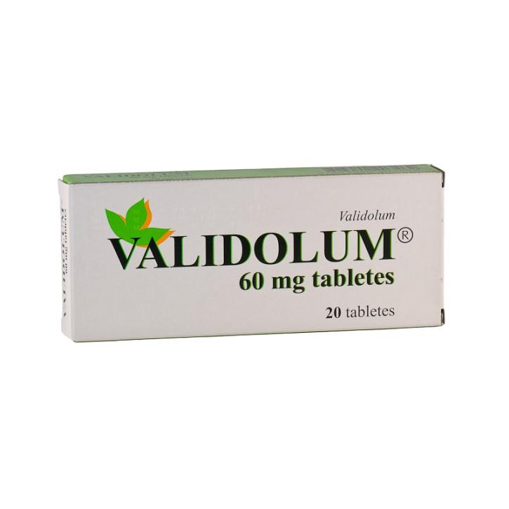 VALIDOLUM 60mg  tabletes N20
