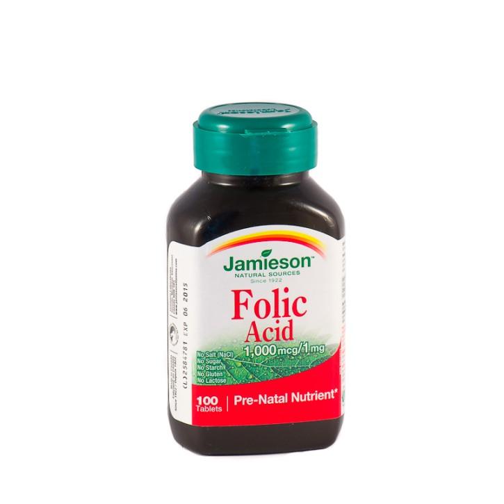 FOLIC ACID 1mg tabletes N100/ JAMIESON