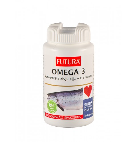 FUTURA OMEGA 3 zivju eļļa 1g kapsulas N120