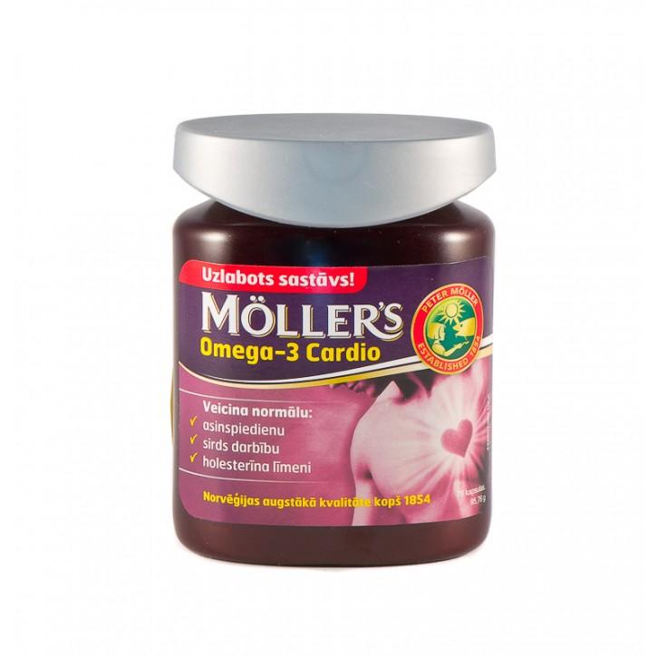 MOLLERS OMEGA-3 CARDIO kapsulas N76